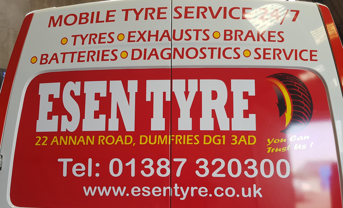 Esen Tyre Mobile Fitting Van Dumfries